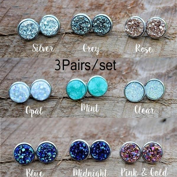 Hoop Earring, Gemstone Earrings, Stud Earring, Vintage