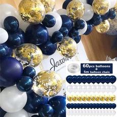 Blues, latex, Garland, birthdaydecor