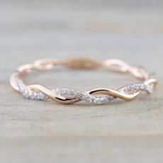 zirconring, Simple, Diamond Ring, Jewelry