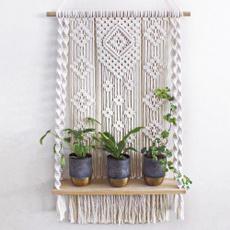 Shelf, macrameshelf, Decor, decoration