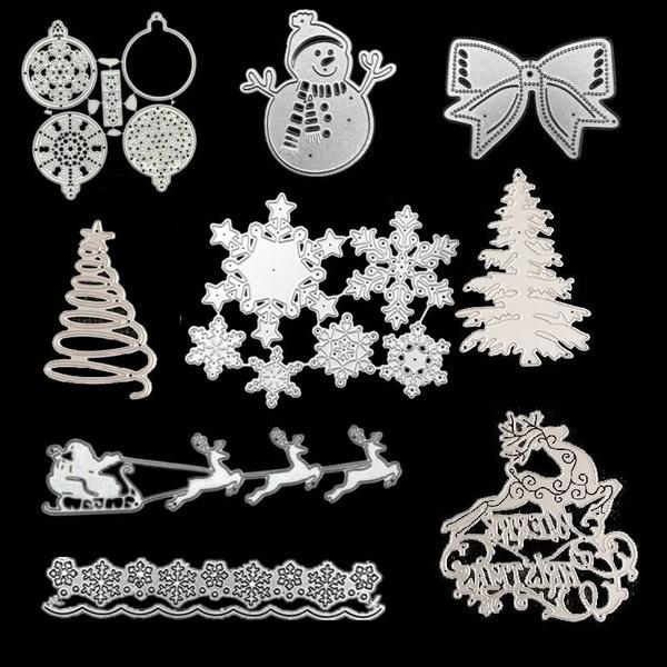 snowflakecuttingdie, diesforscrapbookingphotoalbum, cardcraftsstencil, Christmas