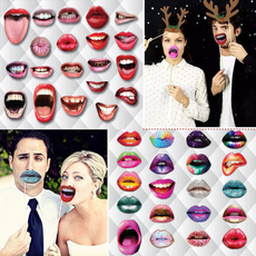 Funny, funnylip, partyprop, lipgloss