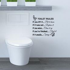 Home & Living, toiletsticker, modernsimplicity, proverbssticker