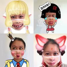 cartoonmask, dustproofmask, dustmask, Funny