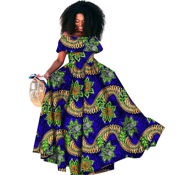 Plus Size, waxprinted, africandre, Evening Dress