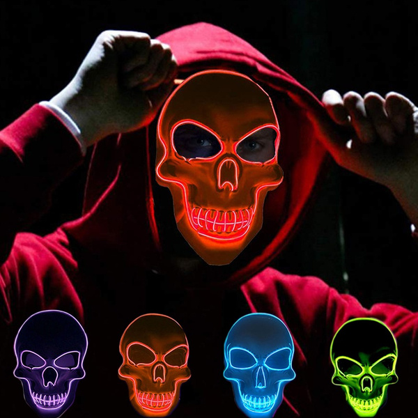 festivalmask, partymask, glowmask, halloweencustome