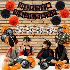 ghost, halloweenballoon, flagpulling, aluminumballoon