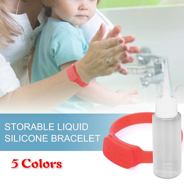 Bracelet, Wristbands, dispensercontainer, squeezebottle