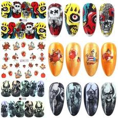 Funny, nail stickers, watertransfernailart, art