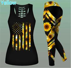 Vest, Tank, clubwear, Sunflowers
