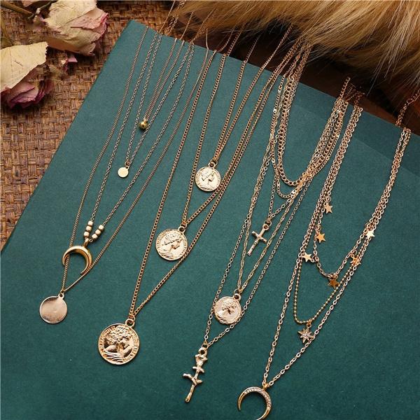Simple, Choker, gold necklace, Elegant