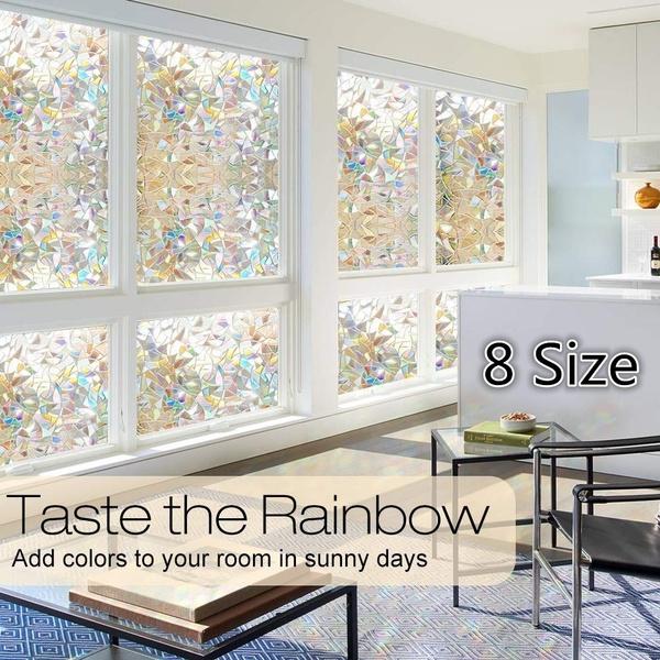 windowdecal, rainbow, windowfilmsunblocking, stainedglasswindowfilm