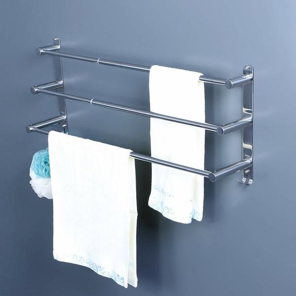Steel, Bathroom, Modern, Towels