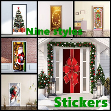 windowsticker, Christmas, doorsticker, Home & Living