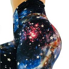 Women Pants, Slim Fit, Star, Fitness