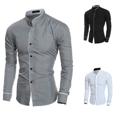 dressshirtsmen, Turn-down Collar, collar slim, Мода