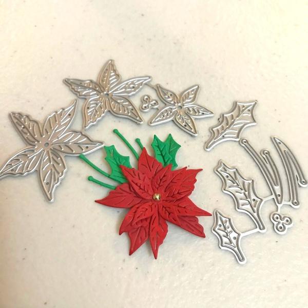 Flowers, Christmas, metalcuttingdie, Metal