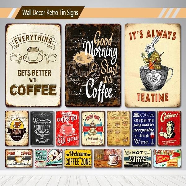 Coffee, art, Home Decor, metalpainting