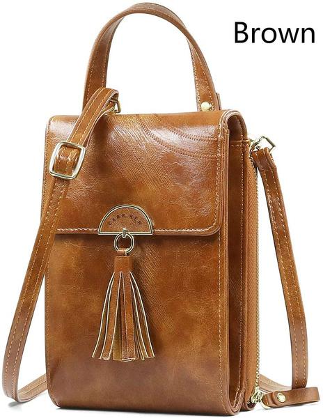 Handy Umhängetasche Schultertasche Brieftasche für Damen PU-Kunstleder Geldbörse