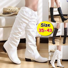 Knee High Boots, leather shoes, Womens Shoes, Knee High