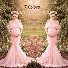 Maternity Dresses, gowns, ruffle, pregantdressforwomen