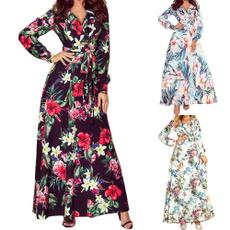 Summer, vestir, Long Sleeve, Dress
