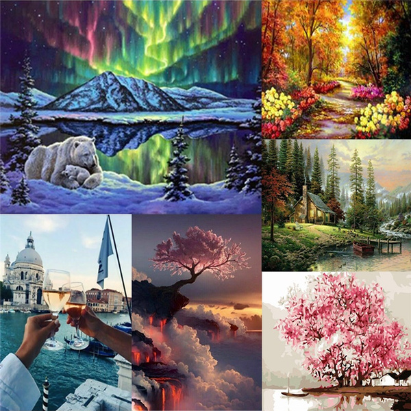 sceneryoilpainting, painting, Children, colorfulpainting