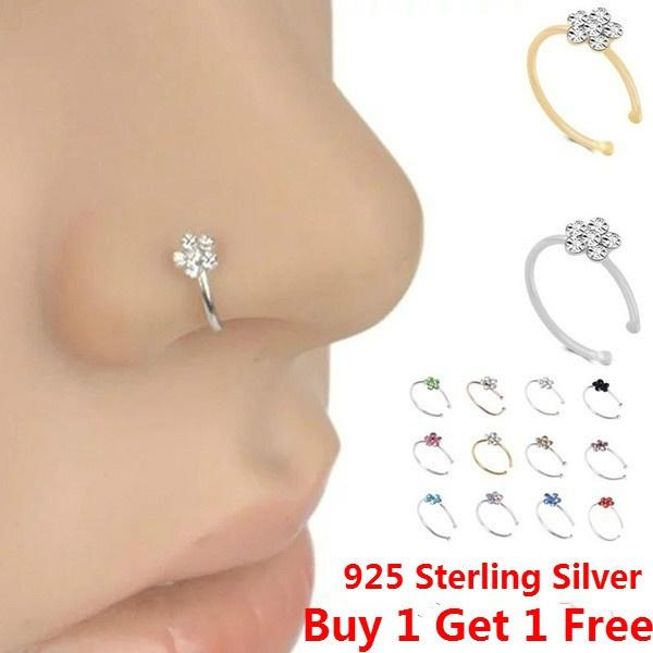 Flowers, Jewelry, nosehoop, noseringsstud