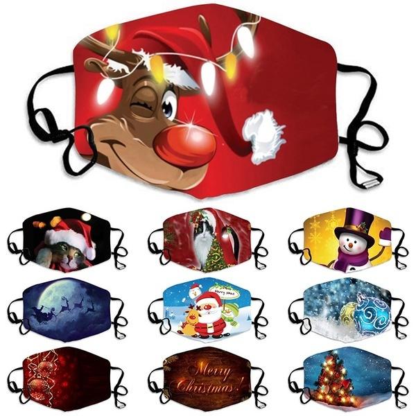 Outdoor, mouthmask, Christmas, printedmask