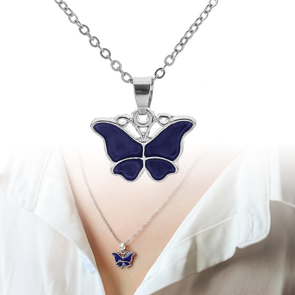 butterfly, Jewelry, Gifts, moodcolornecklace
