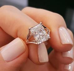 Sterling, DIAMOND, wedding ring, Bride