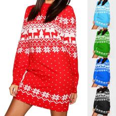 sleeve dress, Christmas, Sleeve, women dresses