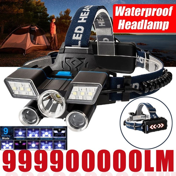 New Brightest 21 LED 9Modes Work Headlamp USB Rechargeable Waterproof Headlight