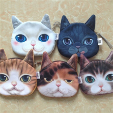 catface, Fashion, coin purse, creative gifts