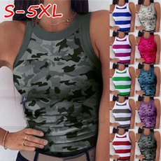 Women Vest, Vest, Fashion, camouflage tank tops
