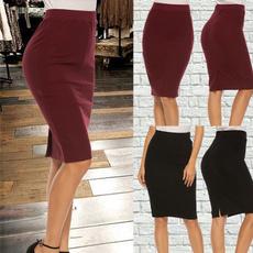 pencil, summer skirt, Skirts, slim