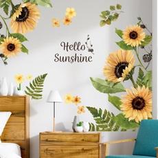 Decor, art, Sunflowers, Stickers
