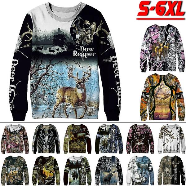 moose, Plus Size, elkpattern, Long Sleeve