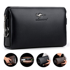 Clutch/ Wallet, leather wallet, Capacity, business bag