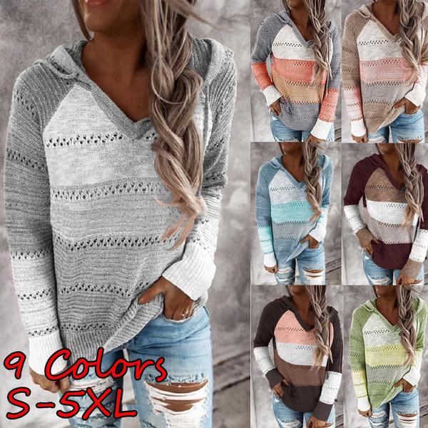 stitchingcolorsweater, Fashion, Sleeve, Spring