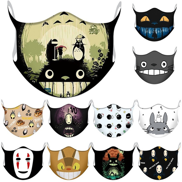 cartoonmask, halffacemask, printed, My neighbor totoro