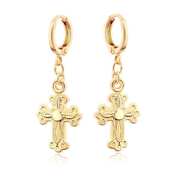 crossearring, 18k gold, Jewelry, gold