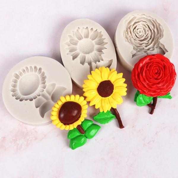 Flowers, chocolatemould, Sunflowers, Food