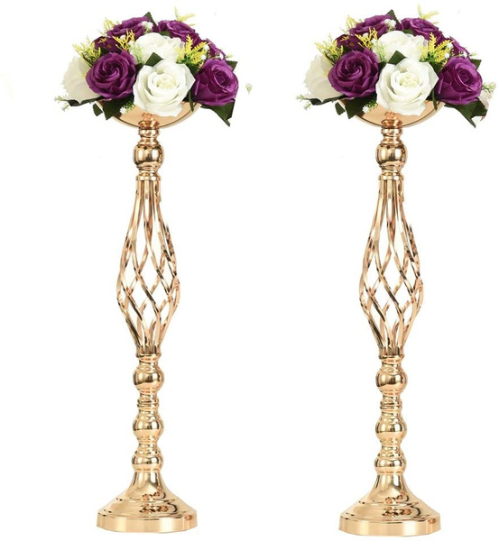 Candleholders, weddingflowervase, Home Decor, gold