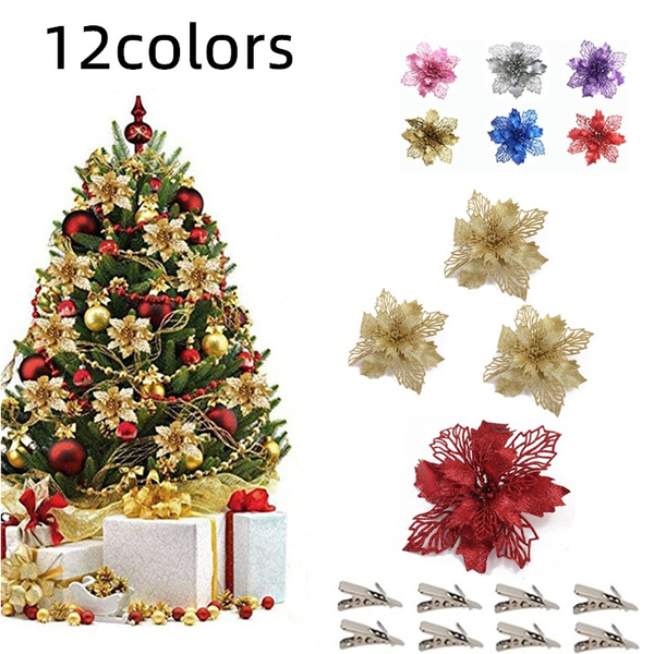 plasticflower, christmastreependant, Flowers, Christmas