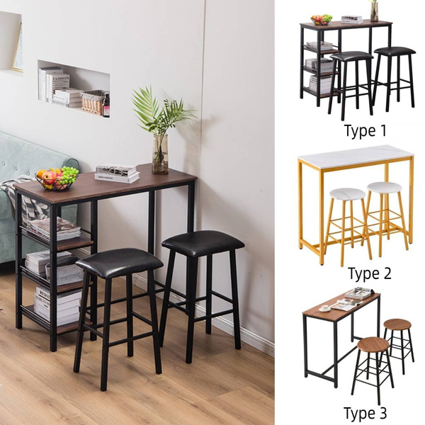 3 Piece Dining Table Set Kitchen Table And 2 Chairs Dining Bar Table For Dining Room Table Set Wish