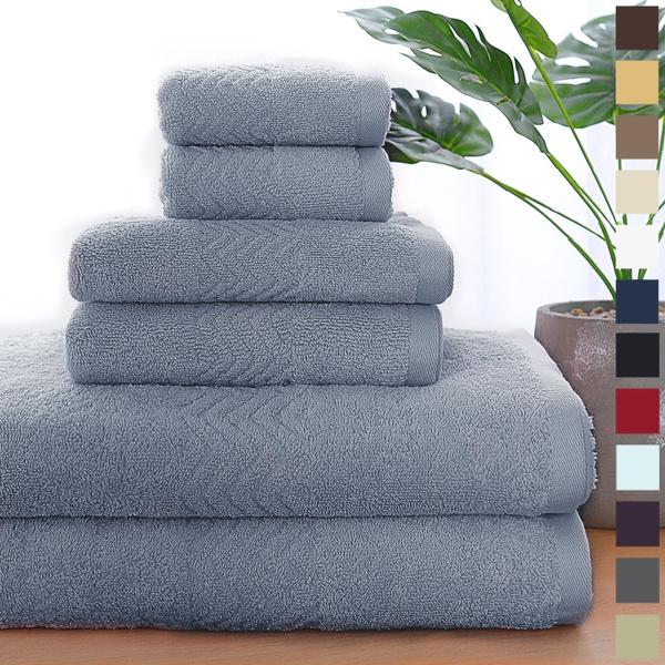 wavepatterntowel, Towels, 100combedcotton, cottontowelsset