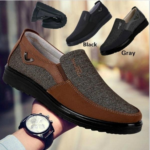 Flats, breathableshoesformen, Loafers, Men