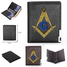 leather wallet, shortwallet, masonicwallet, Classics