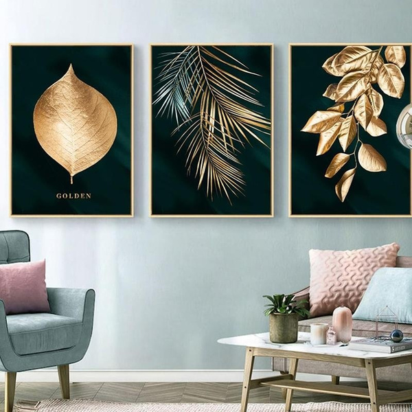 golden, walldecorpainting, living room, decoration oil painting